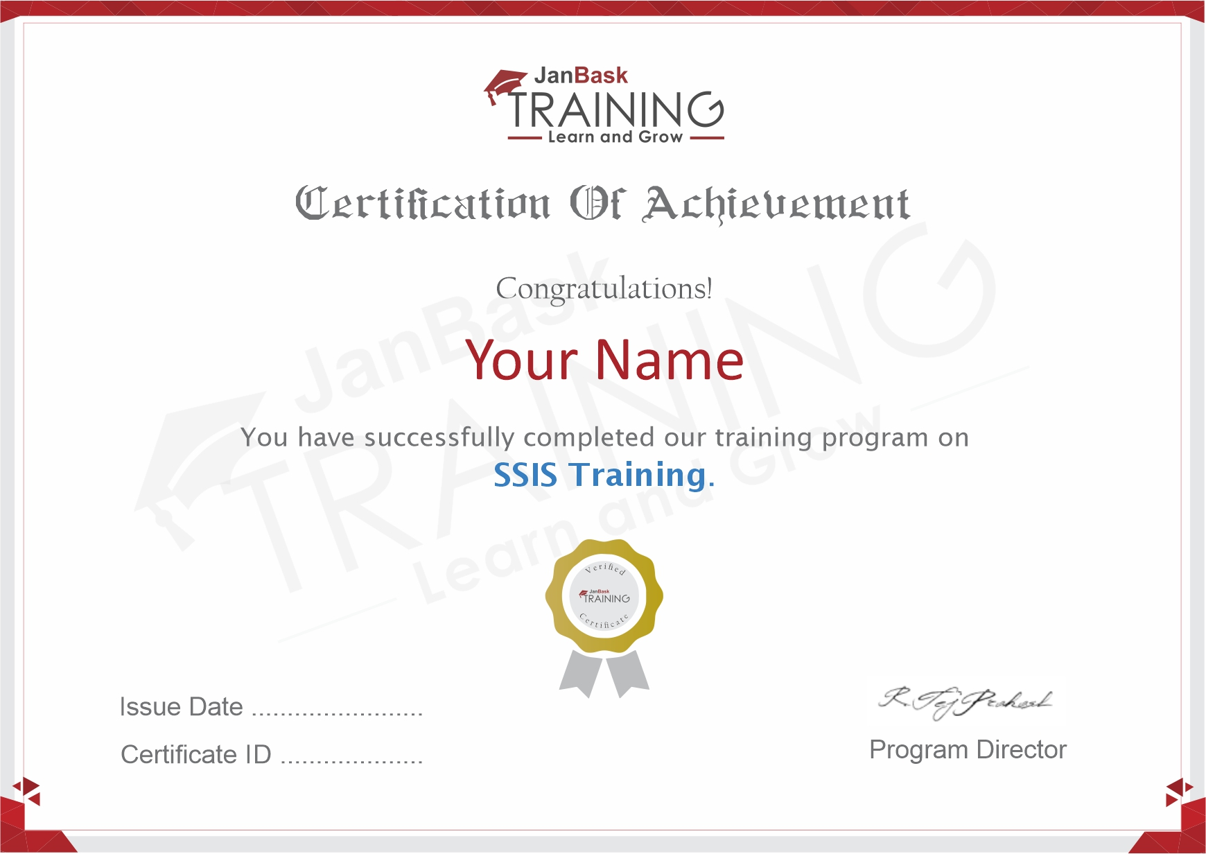 SQL (SSIS) Certificate