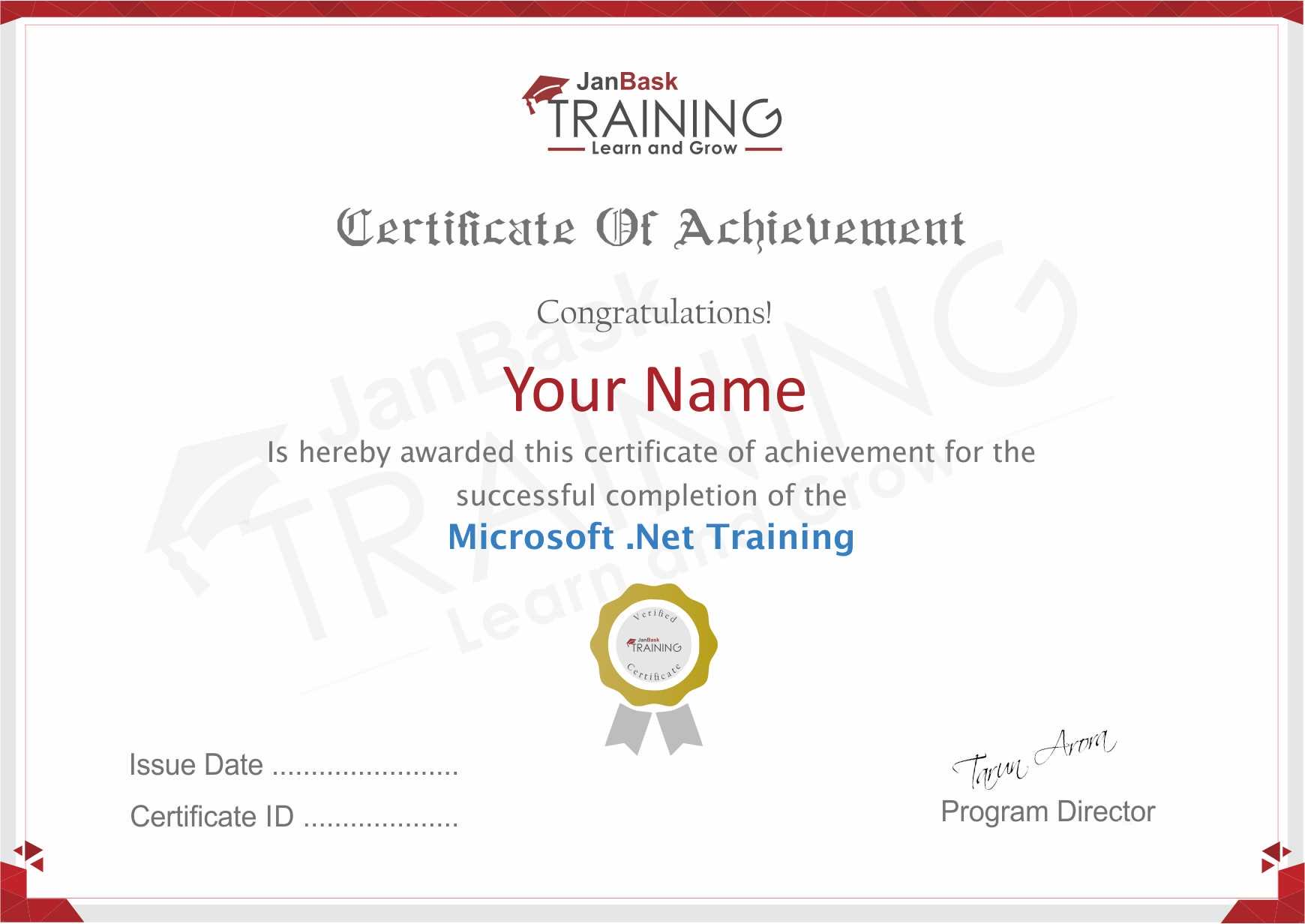 .NET Certificate