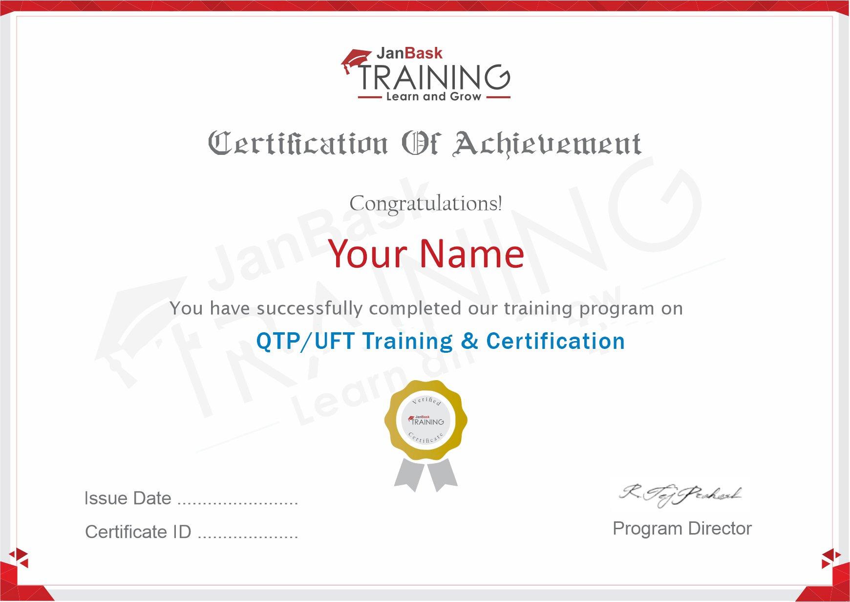 QTP/UFT Certificate
