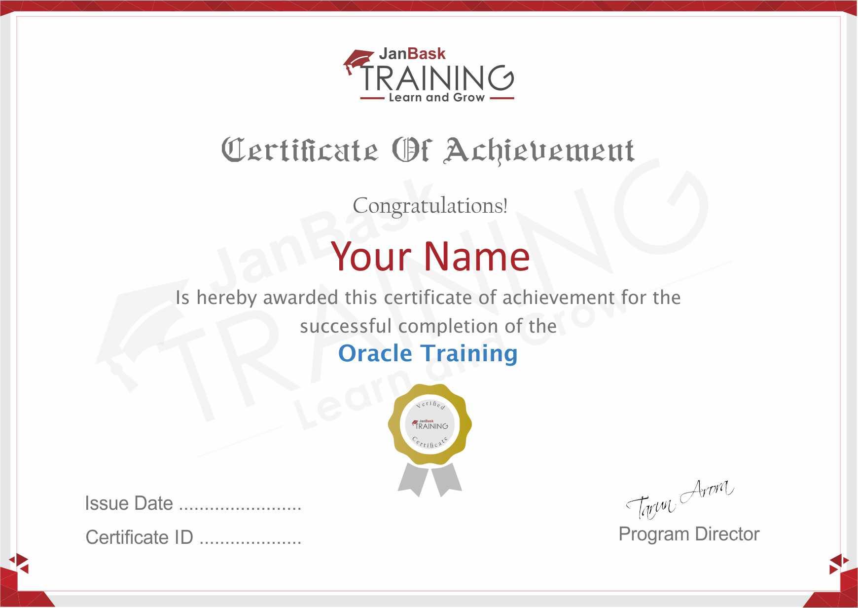 Oracle DBA Certificate