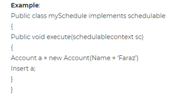Define Scheduler in APEX Salesforce?