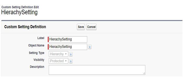 What is custom setting in Salesforce?