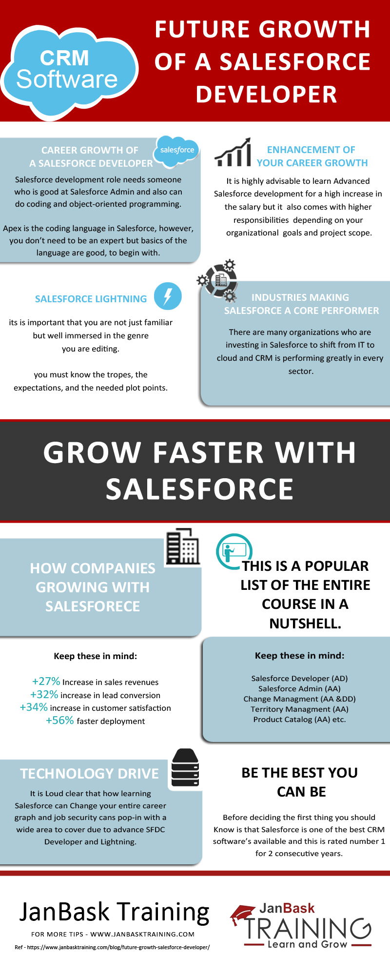 Future Growth of a Salesforce Developer infographic