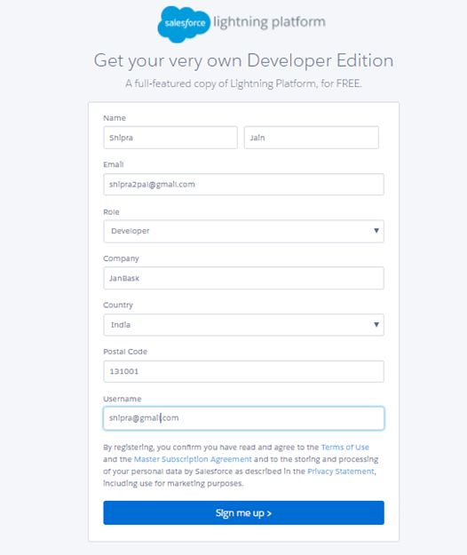 Create a Free Salesforce Developer Account