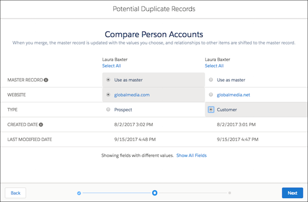 How to Merge Accounts in Salesforce Lightning?