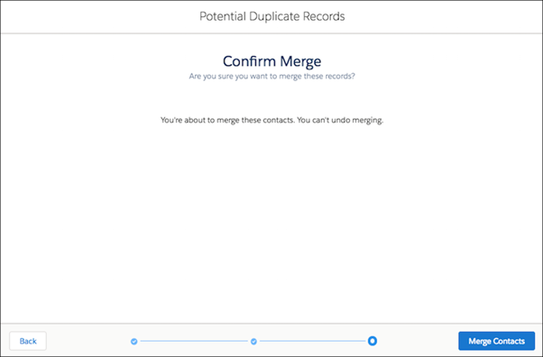 How to Merge Contacts in Salesforce Lightning Experience?