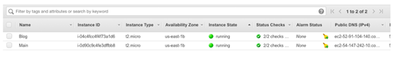Launch two EC2 instances