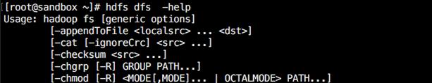 hadoop Help Commands