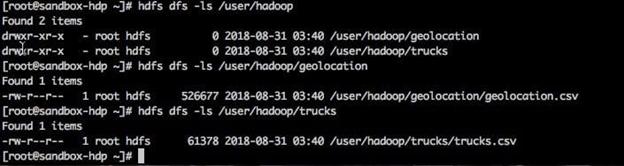 Hadoop used commands