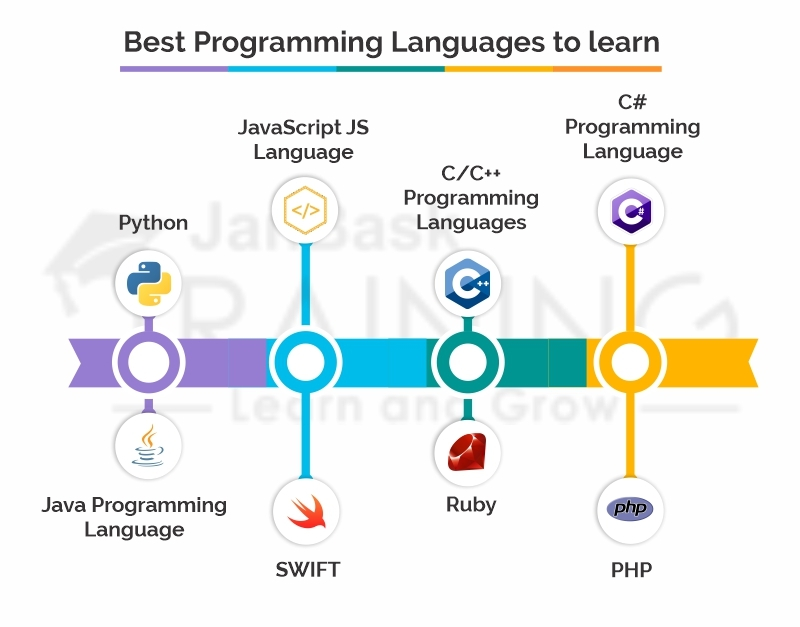 best coding language to learn - infographic