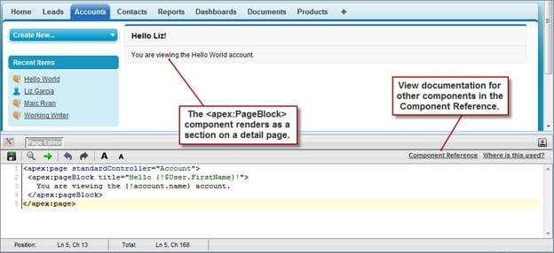 The<apex:pageBlock>Component