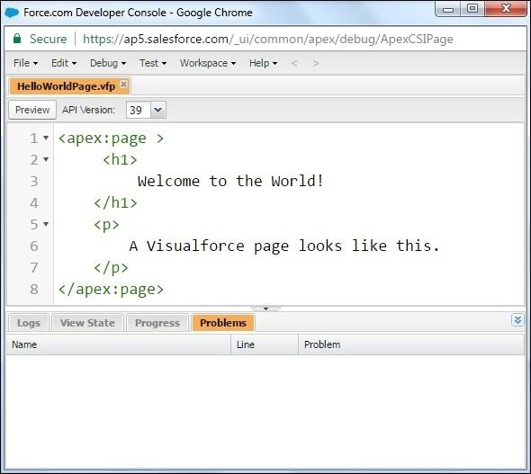 Creating a Visualforce Page