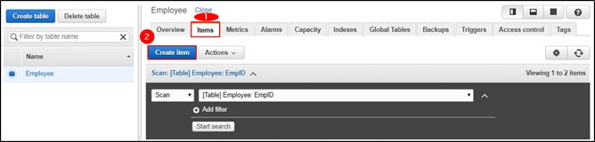 How to Insert a table in DynamoDB?