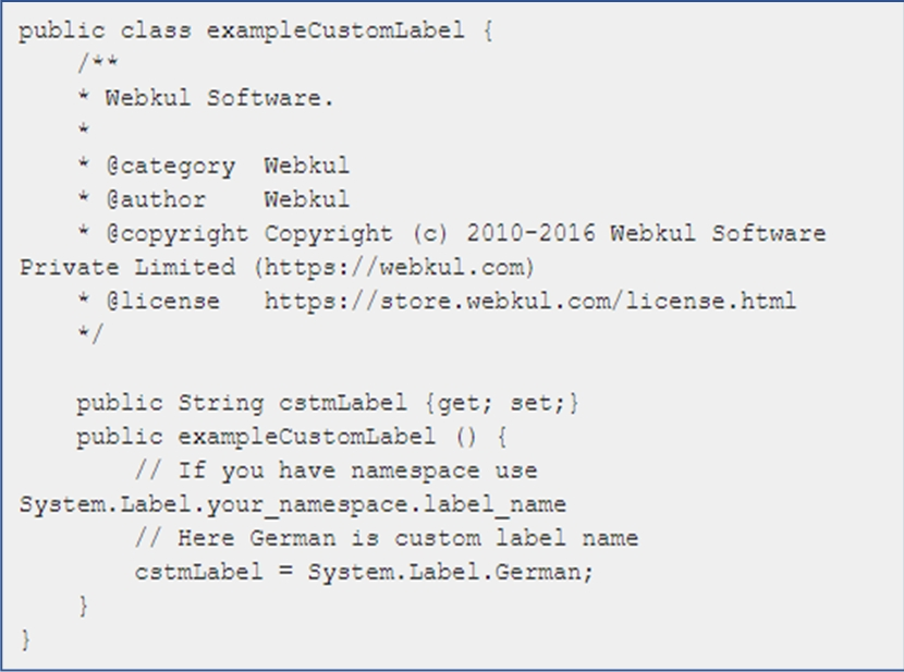 Visualforce Page Code: