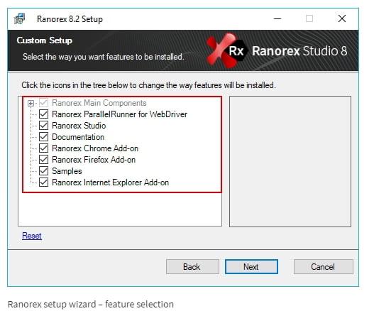 Ranorex Studio Wizard Setup