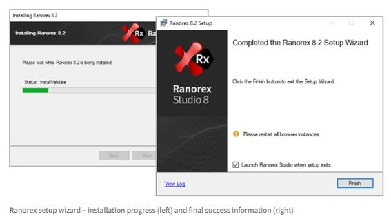 Finish the Ranorex Studio Installation