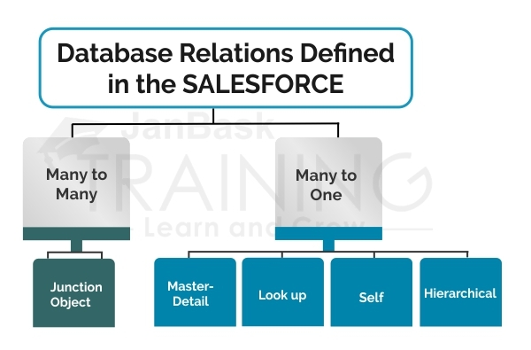 Database Relations defined in the Salesforce
