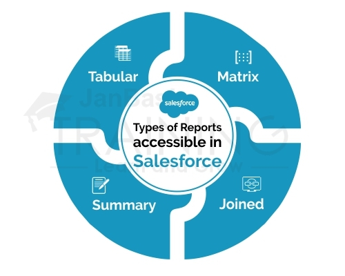 List the numerous types of Reports accessible in Salesforce.