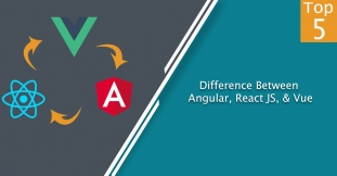 Difference Between Angular 5, React JS, & Vue